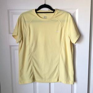 Nike Performance pale yellow short sleeve top
